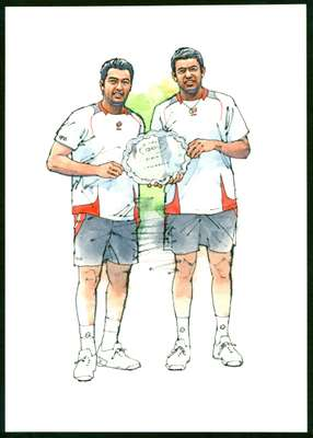 Aisam-Ul-Haq Qureshi and Rohan Bopanna, Tennis players (Pakistan and India)