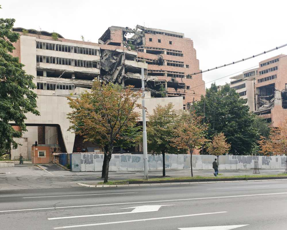 The Ministry of Defence in Belgrade, hit by Nato cruise missiles in 1999