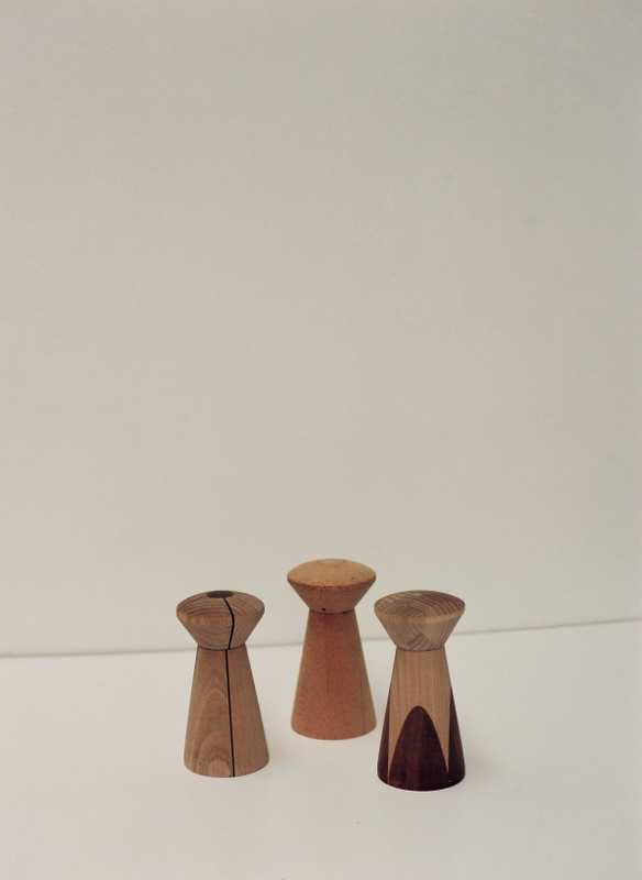 Wooden salt and pepper shakers by Malcolm Harris