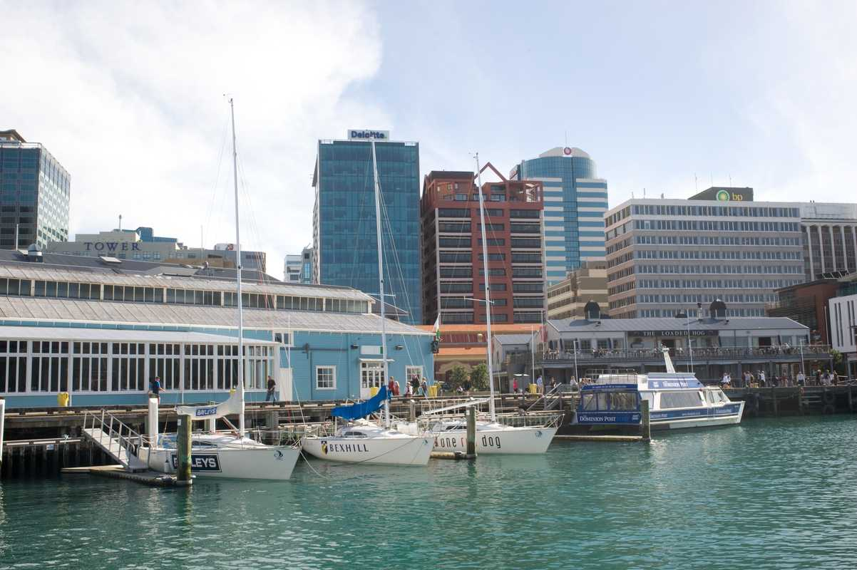 Wellington CBD seen from Queens Wharf