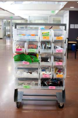 Trolley with design supplies
