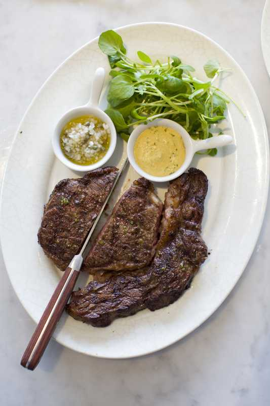 Grilled rib-eye steak