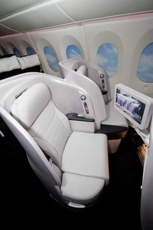 New angled seating in Premium Economy