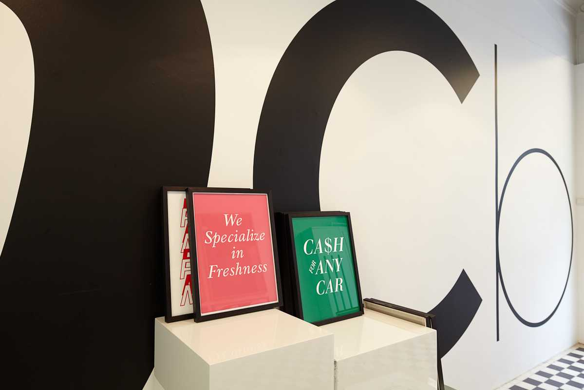 Font-themed prints, sold in Playtype