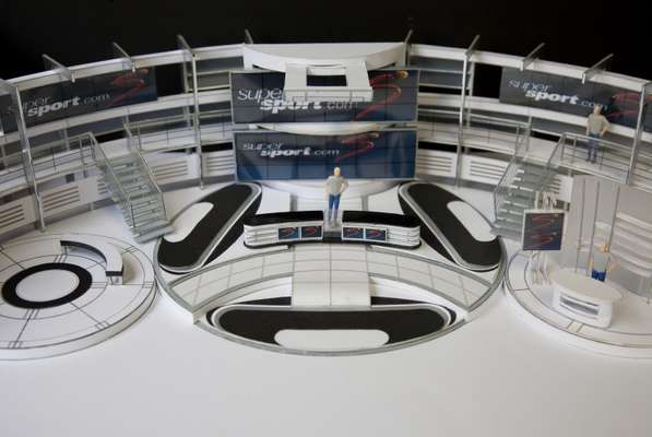 Model of the new World Cup studio for the SuperSport channel
