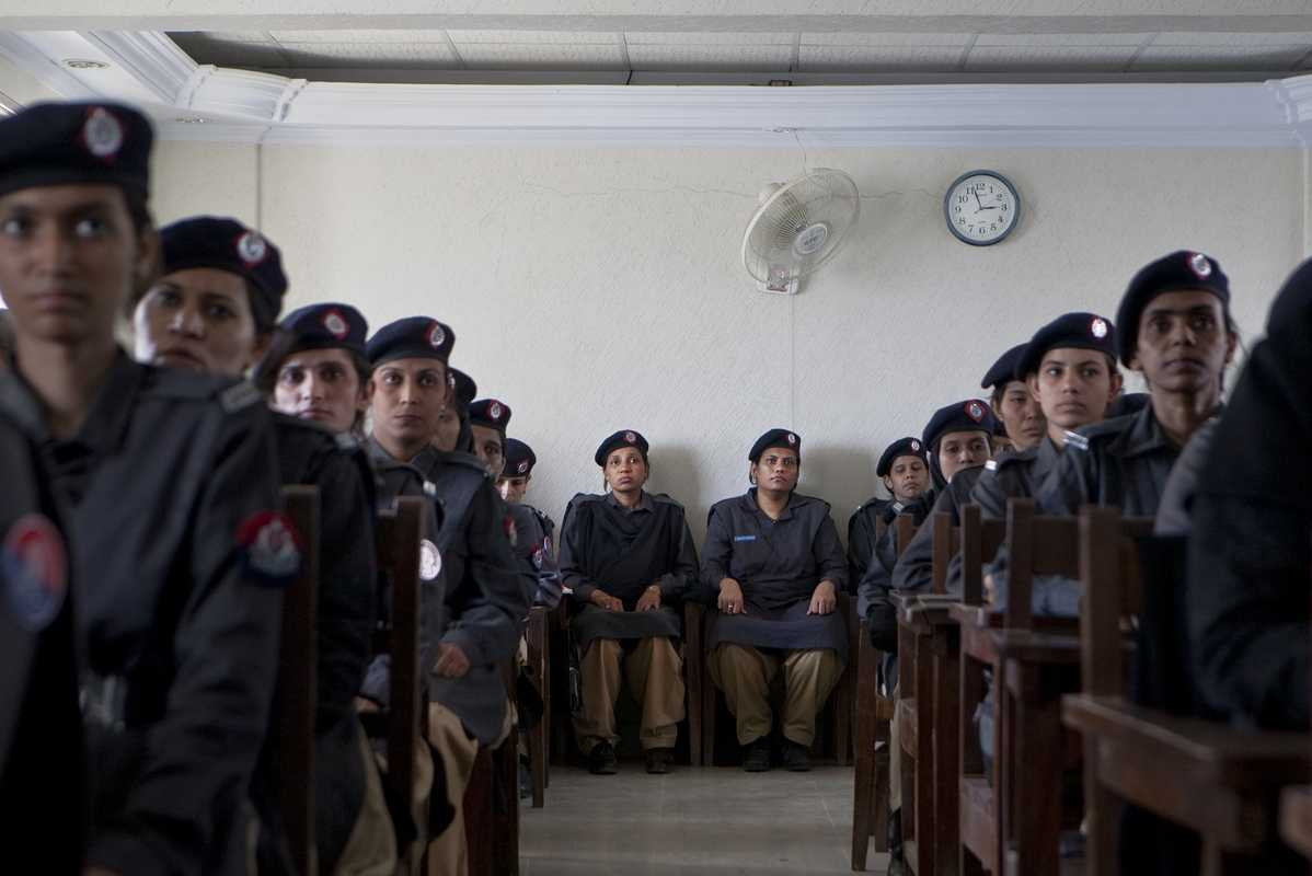 Female police at the training school