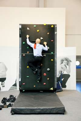 The climbing simulator Climbstation by David Sports