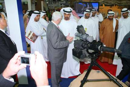 Crown Prince of Abu Dhabi Sheikh Mohammed bin Zayed Al Nahyan at the exhibition
