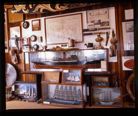 Maritime history displays in the Museum