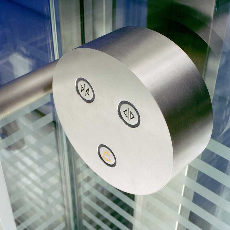 Detail of a Schindler elevator in the 40-storey Post Tower