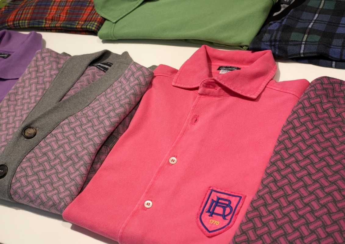 Polo shirts and cardigan by Drumohr
