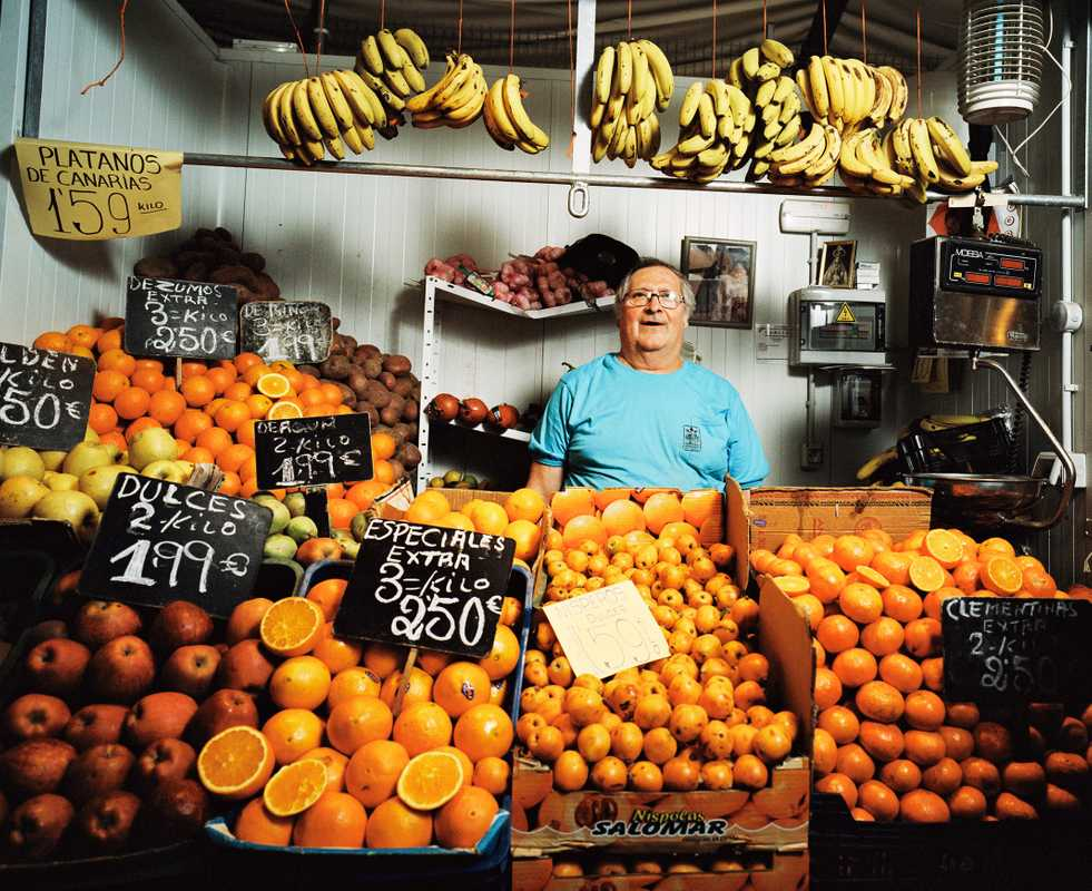 Stallholder in fruit market