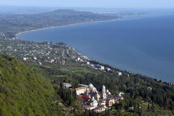The Black Sea coast near Sukhumi