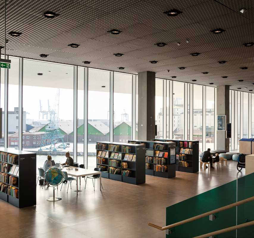 Dokk1, the new public library, that was opened in June