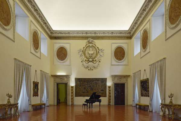 Most of the embassy's receptions and music events are held in the Sala dei Palestrina