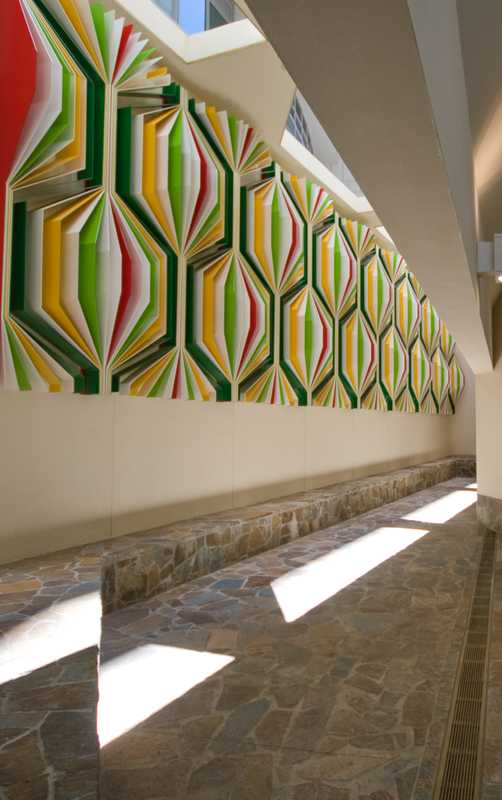 Artwork inside the Santos building by Donovan Hill