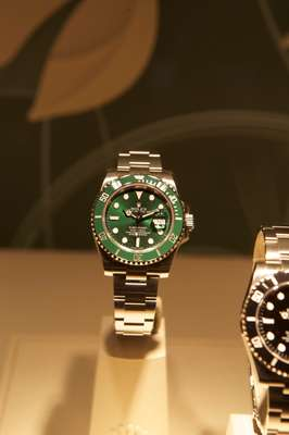 Rolex Submariner in green gold