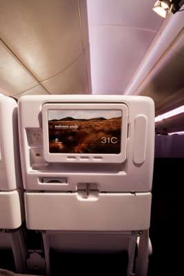 In-flight entertainment screens in Economy are now two inches wider