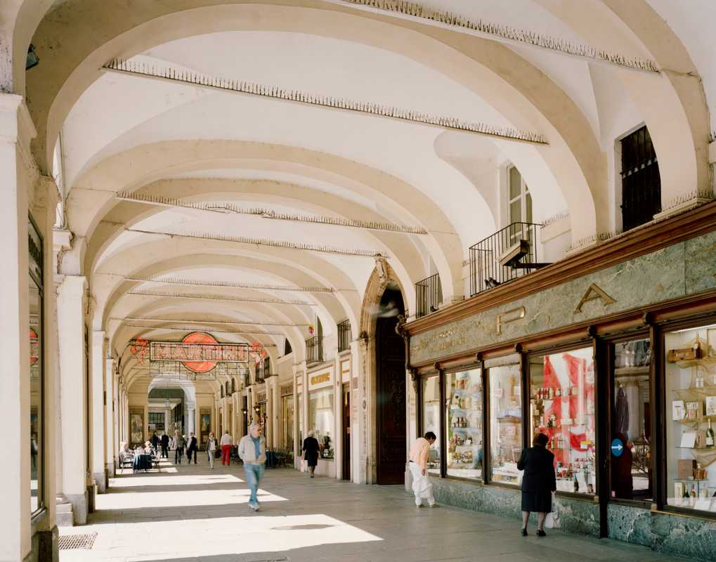 The portici, or arcades, at Piazza San Carlo