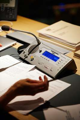 Taiden equipment used by UN interpreters in New York