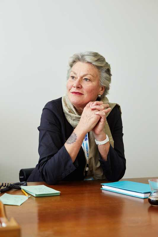 Acting head of the UN interpretation service in New York, Sophie Louyot