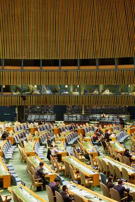 Delegates at the UN General Assembly Hall