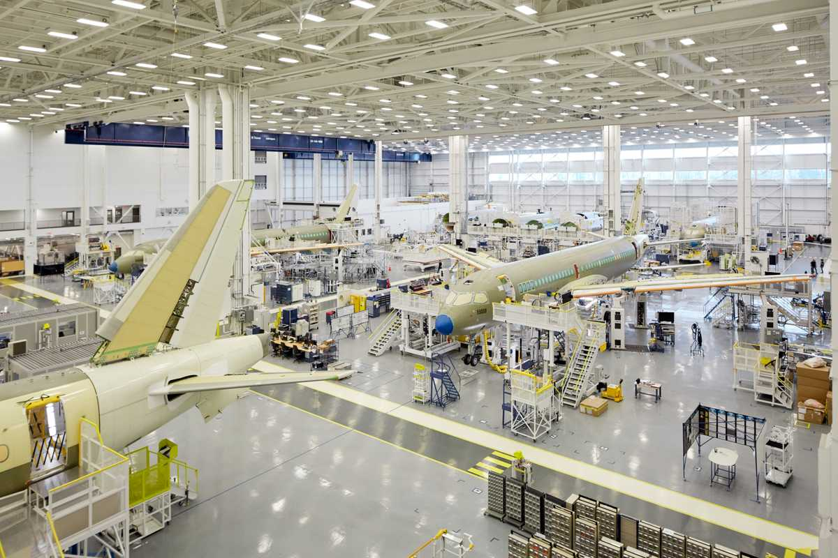 Bombardier C Series production  hangar, Mirabel