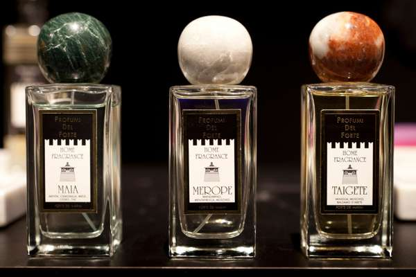 Profumi del Forte bottles with Carrara marble stoppers