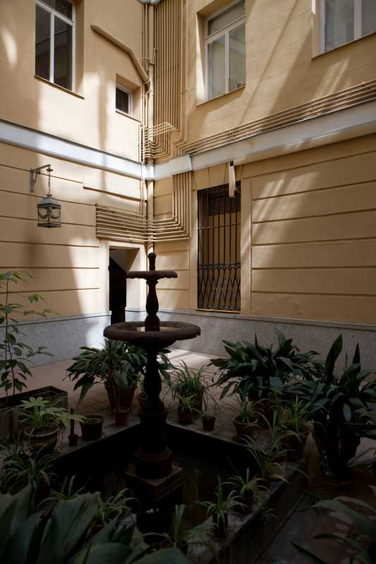 An apartment courtyard