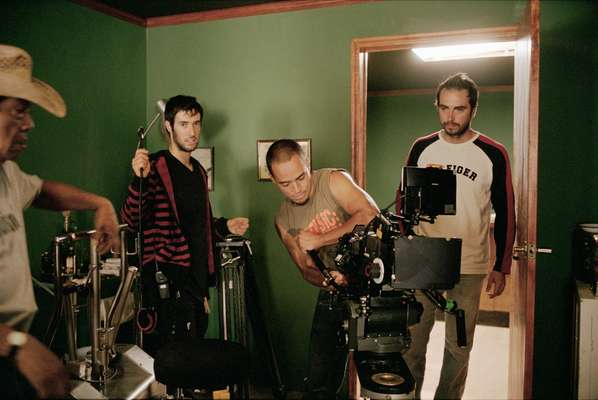 'Tequila's' director of photography Andrónico González, far right