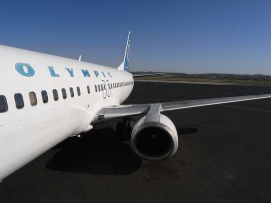 Olympic Airways operates regular flights out of Macedonia airport