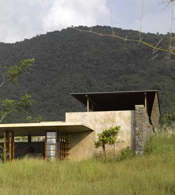 Utsav House sits unobtrusively in the local landscape