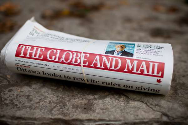 'The Globe and Mail' newspaper