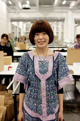 Sayaka Kimura, 24, manages distribution logistics for Zozotown