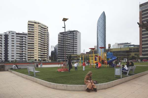 Playground in downtown Lima