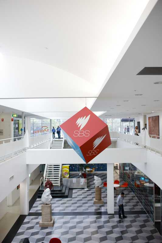 Atrium of the SBS headquarters