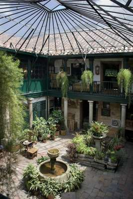Courtyard at Jaime Botero antique shop