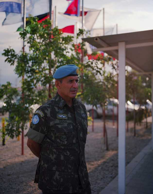 Force commander Major General Luiz Eduardo Ramos Pereira in Delta Camp