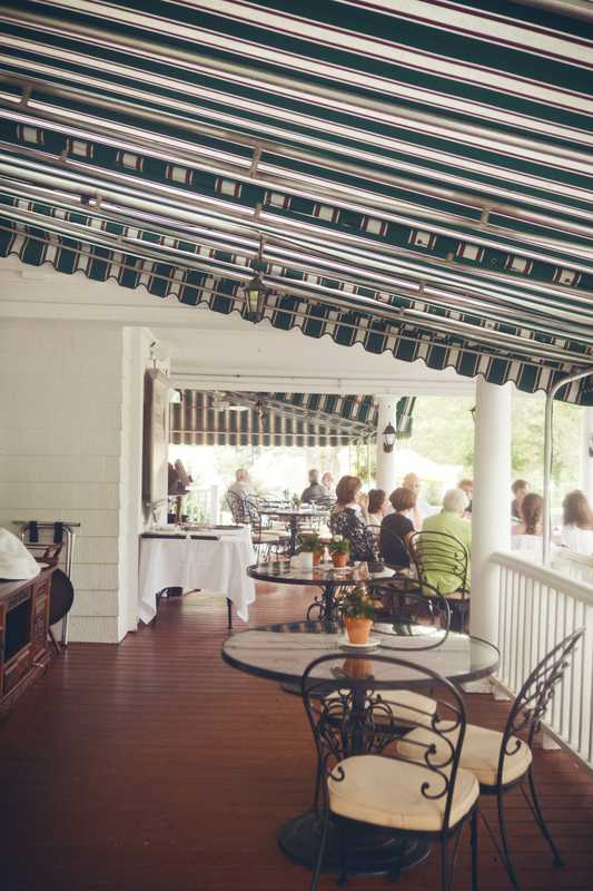 The porch at the inn
