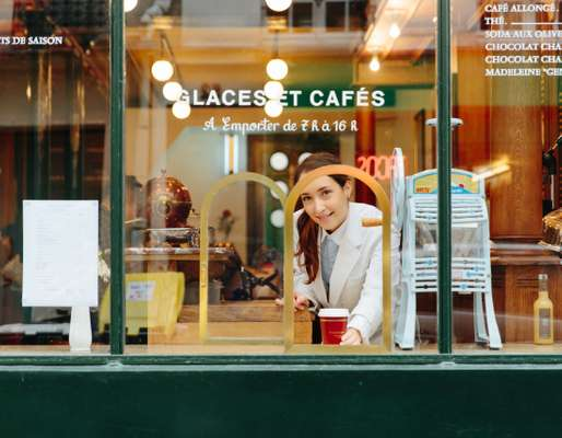 45 Rue de Saintonge's takeaway window serves coffee and ice cream