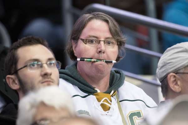 Fan armed with a pen (Knights-branded, of course) and ready to take notes