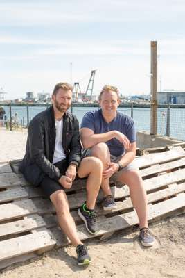 Anders Laursen and private developer Nicolai Hommelhoff
