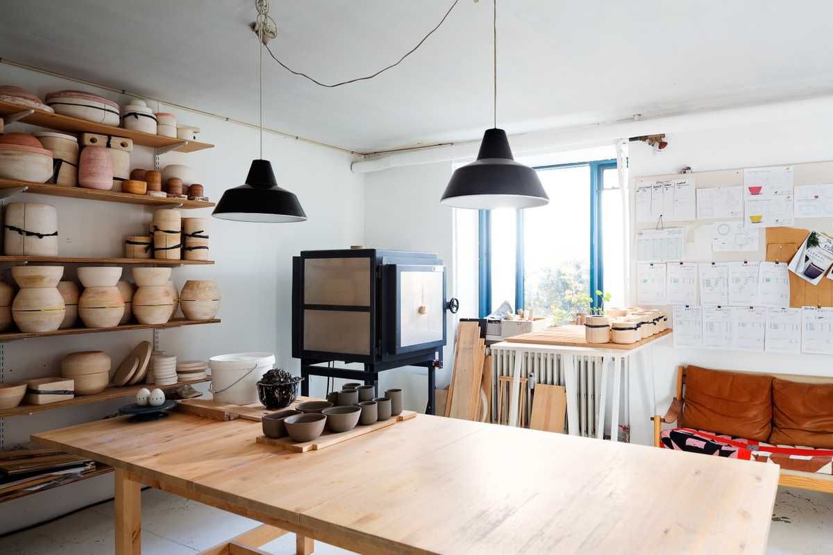 Mette Duedahl's cosy work space