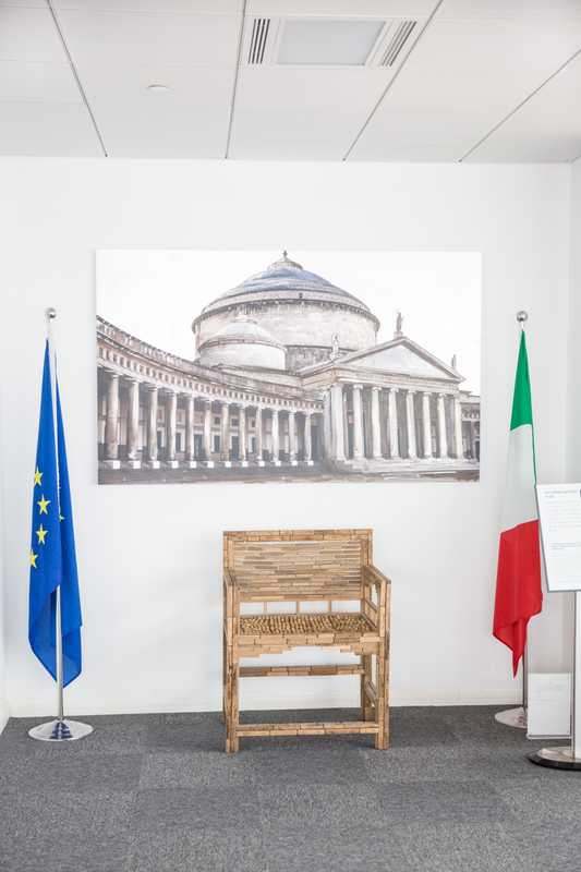 Inside the Italian consulate