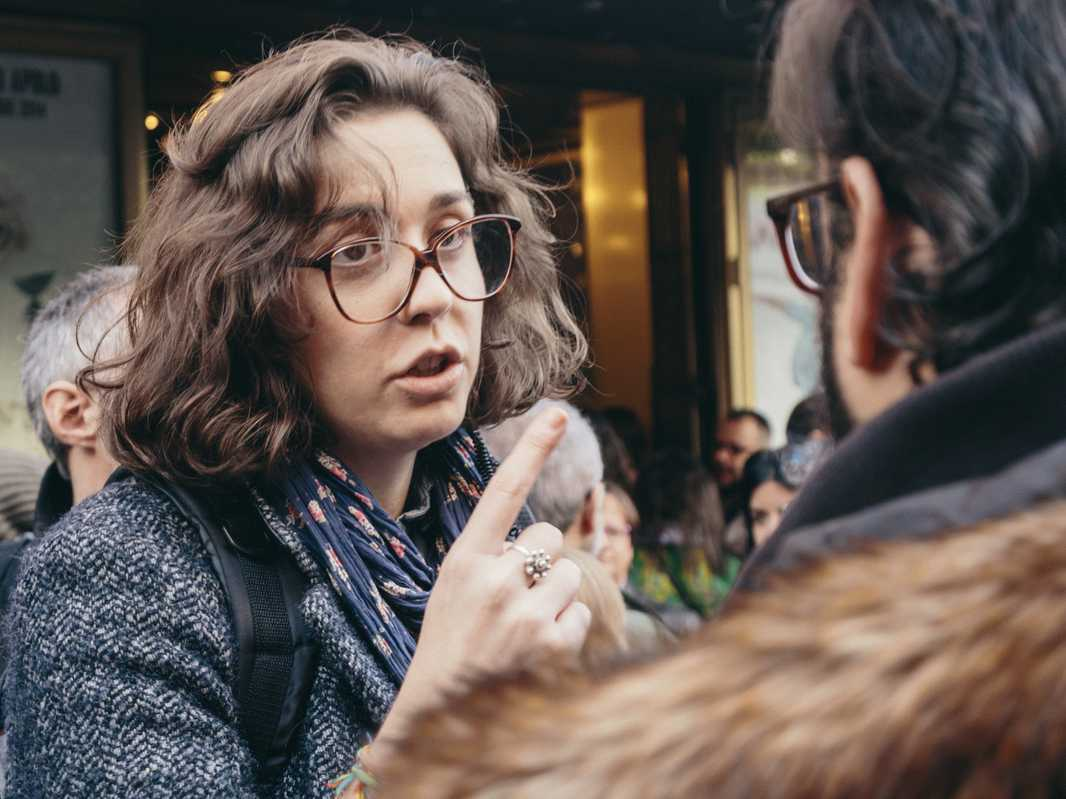Maria José Benavente, media adviser for the Podemos party
