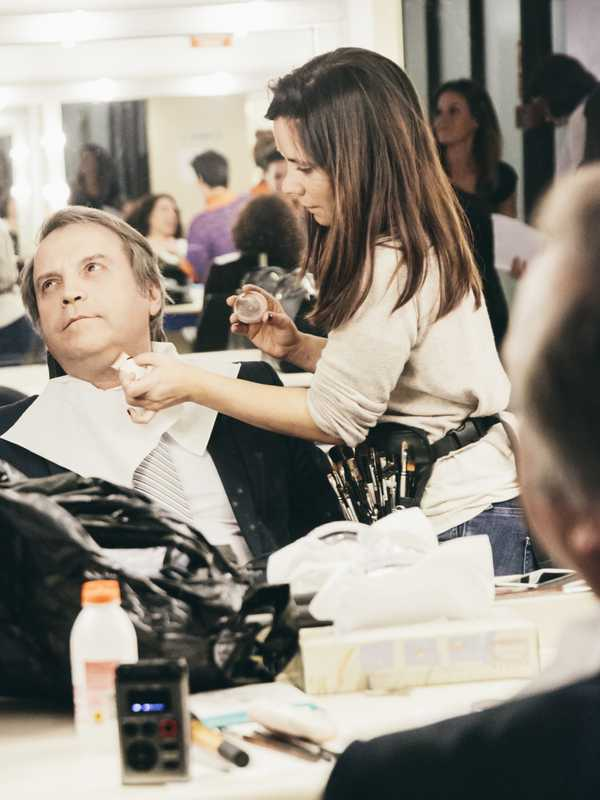 Carmona in make-up