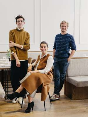 From left to right: Better's interior designer Javier de La Higuera with Alejandra Ansón and Miguel Bonet