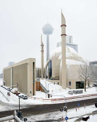 The Central Mosque in the Ehrenfeld district of Köln