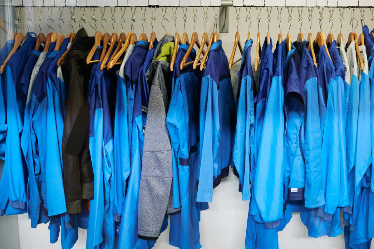 All jackets, coats and overalls at BMW are the same shades of light blue
