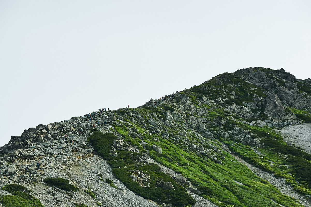 Single file along Tateyama's ridge